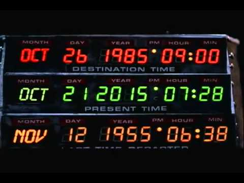 Back to the future future date in Melbourne