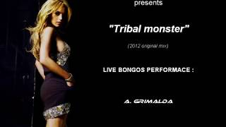 "TriBal(FunKy)House-""Tribal monster""live bongo percussion House Tribe Machine"