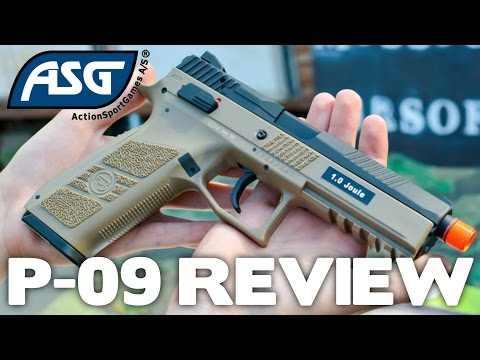ASG CZ P-09 Airsoft Pistol Unboxing & Review - Airsoft Station Gun Review