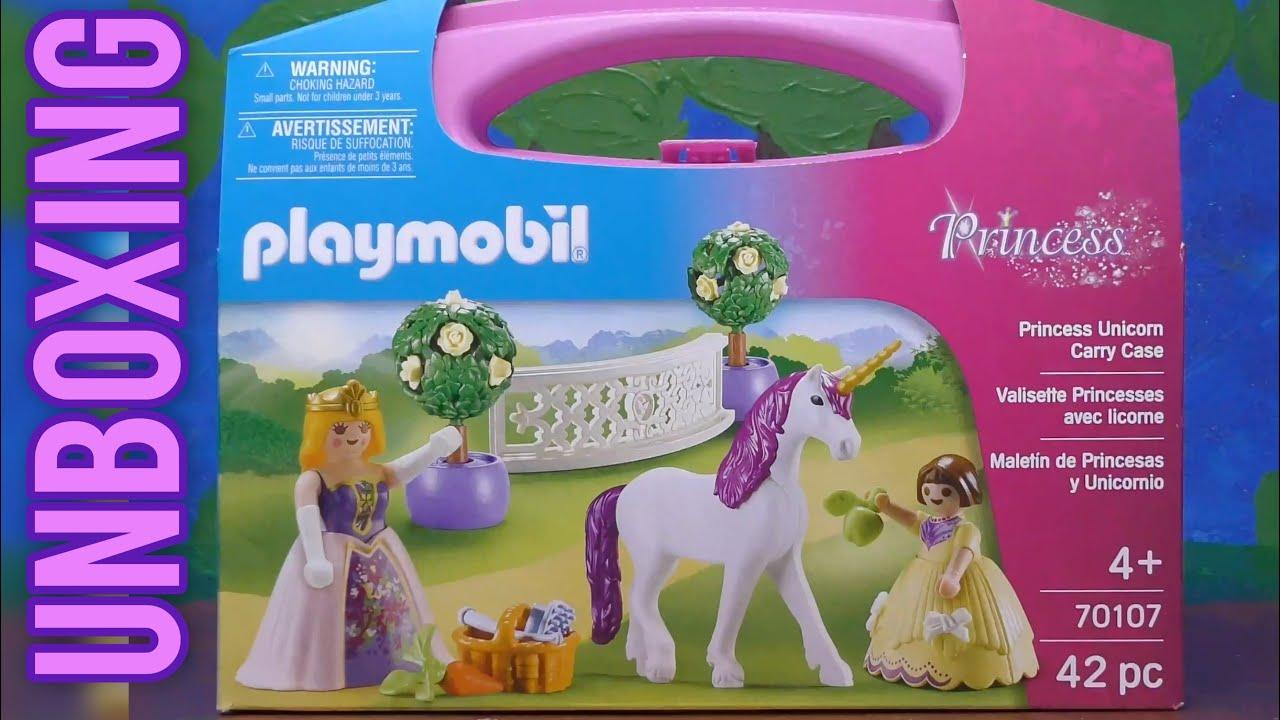 playmobil princess unicorn carry case unboxing  youtube