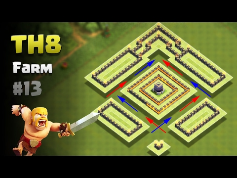 Clash of Clans ⚫ TH8 Farming Base #13 + Replays ⚫ Dark Elixir Protection