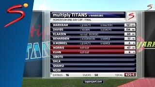 Titans smash SA List-A batting record three times in a season