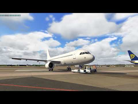 Xplane 11: Flight Factor A320 Preflight & Take off Valencia (LEVC) [1440p]