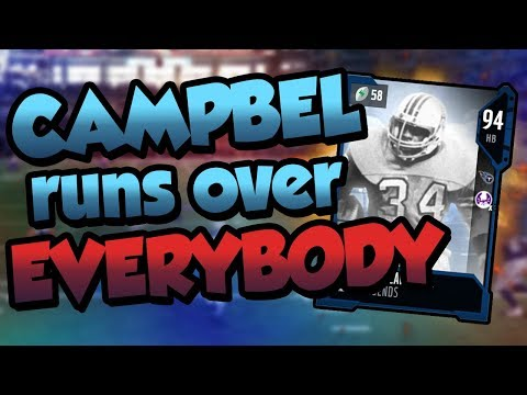 Madden 18 Ultimate Team :: Earl Campbell is Running Over Everyone! :: Madden 18 Ultimate Team