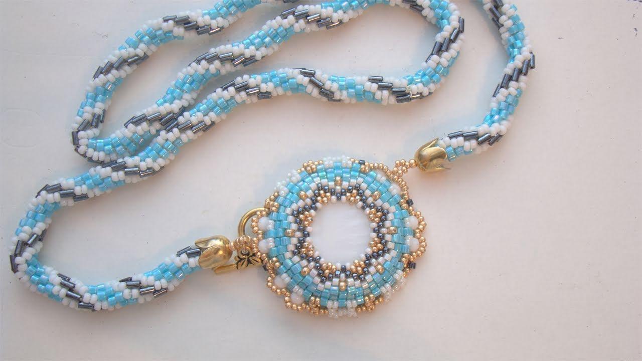 Sarubbest Collana Con Perline Disco In Madreperla E Spirale