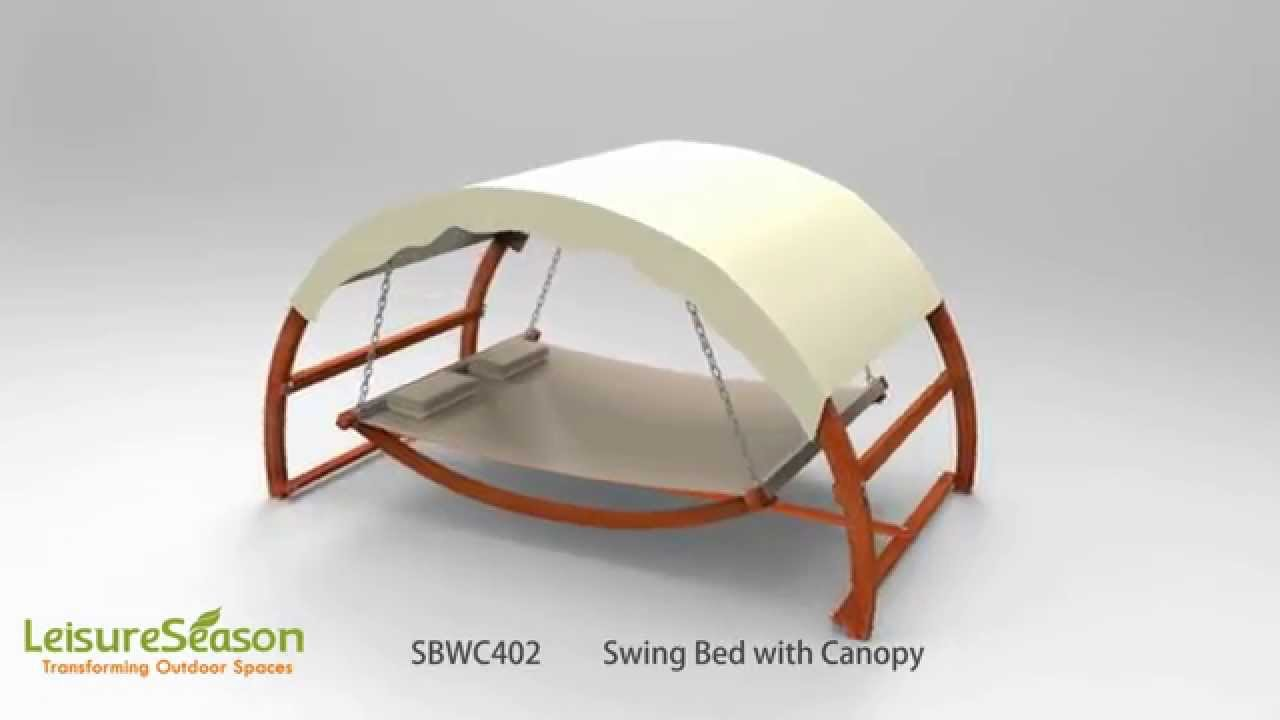 & SBWC402 Swing Bed with Canopy - YouTube