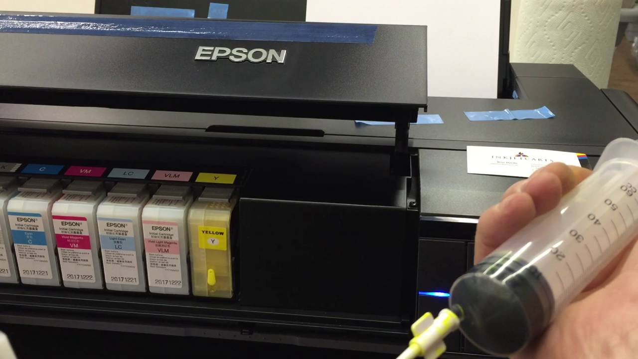 Refilling instruction of Epson P800 by InkJetCarts