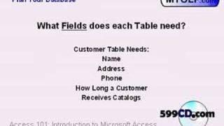 599CD Microsoft Access 101.3
