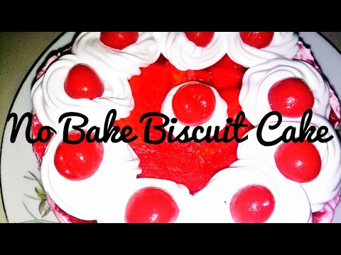No bake biscuit cake recipe / cold cake recipe/ no oven and baking simple desert recipe