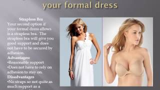 Options for wearing a bra with your formal Thumbnail