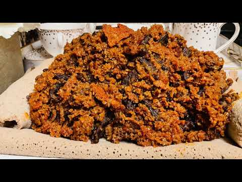 ተበልቶ የማይጠገብ የቋንጣ  ፍርፍር  አስራር Ethiopian food how to make quanta firfir