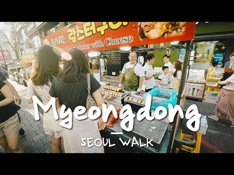 Seoul Walk with Commentary: Myeongdong (명동), @Line 4 - Seoul, South Korea [4K]