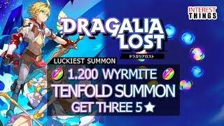 Dragalia Lost - LUCKIEST TENFOLD SUMMON GET THREE 5 STARS