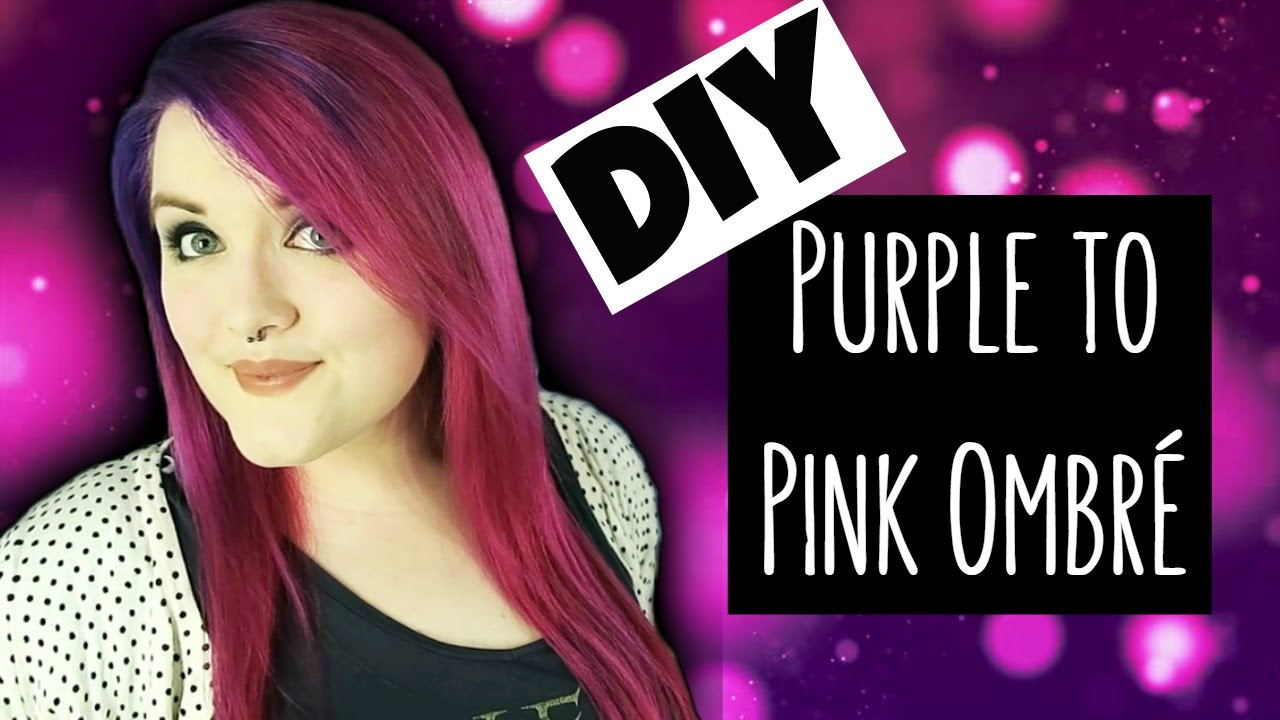 Diy purple to pink ombr dye how to hair chat the corner diy purple to pink ombr dye how to hair chat the corner of craft urmus Image collections