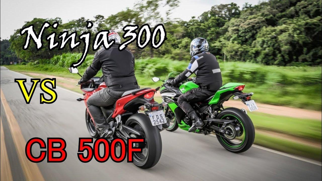🔥Arrancada Ninja 300 vs CB 500F | Quem leva a melhor?