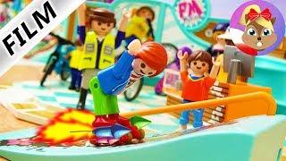 Playmobil Film PL   RAKIETOWE ŁYŻWOROLKI JULIANA - wystrzeliwuje się na księżyc?   Serial Wróblewscy