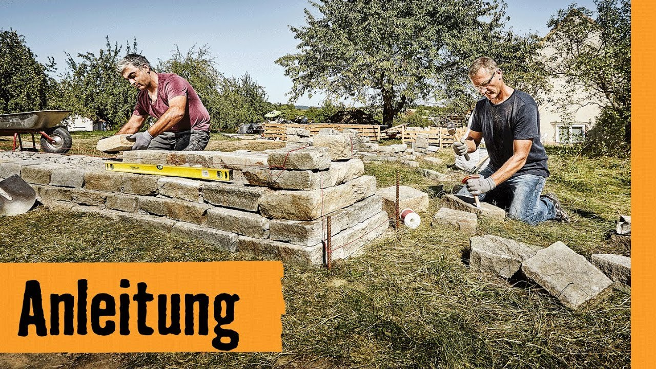 Fundament Am Hang Trockenmauer Bauen | Hornbach Meisterschmiede - Youtube
