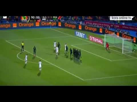 هدف رياض محرز العالمي يأهل الجزائر في الدقيقة الاخيرة و بكاء حفيظ الدراجي ???