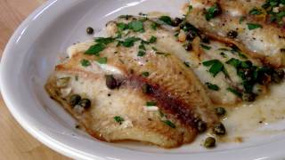 Fish Piccata Recipe - By Laura Vitale - Laura In The Kitchen Episode 133