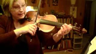 Minuet #3 by J.S. Bach, from Suzuki Violin Book 1, Practice clip.