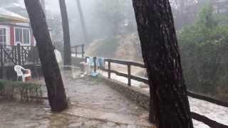 Noodweer in L'estartit Camping Castell Montgri.