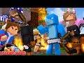 THE LITTLE CLUB GROUP BATTLE - Minecraft Hunger Games | Sharky And Scuba Steve