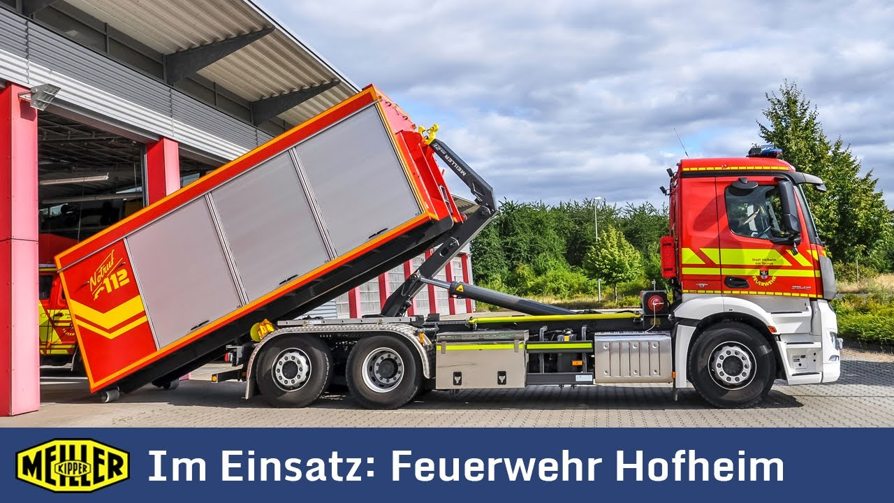 Abrollkipper RS21von MEILLER im Einsatz bei der Feuerwehr Hofheim am Taunus