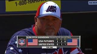 slo-pitch 2013  USA vs futures