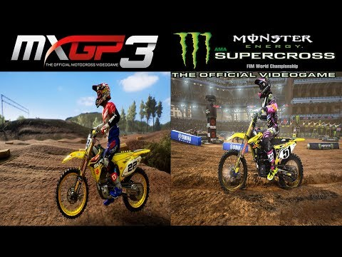 Supercross the Game VS MXGP3 | Graphics/Physics Comparison Gameplay 4K