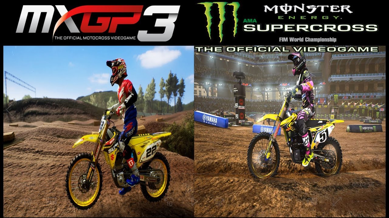 supercross the game vs mxgp3 graphics physics comparison. Black Bedroom Furniture Sets. Home Design Ideas