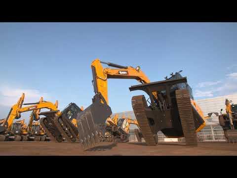 SANY Excavators Dancing Show!