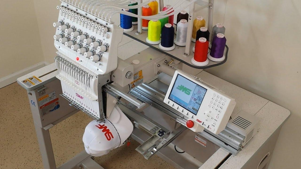 Swf Embroidery Machine E T1501 Youtube