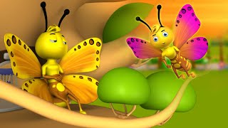 The Lazy Butterfly Telugu Story - బద్దకపు సీతాకోక చిలుక నీతి కథ 3D Animated Kids Moral Stories Tales
