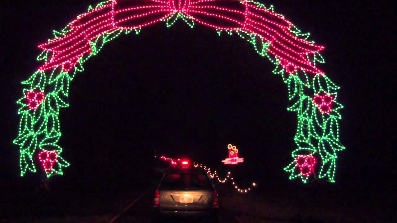 christmas light park in tanglewoodnc
