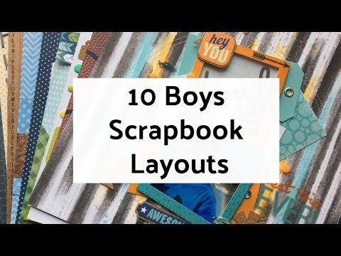 10 Boys Scrapbook Layout Ideas - Layout Share