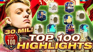30 MILLION COIN TEAM IN FUT CHAMPIONS! TOP 100 HIGHLIGHTS! #FIFA21 ULTIMATE TEAM