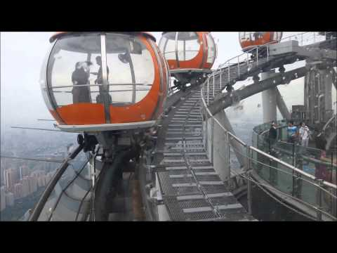 World's highest outdoor observation deck - Canton tower, Guangzhou