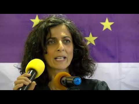 EU Election Observation Mission Chief Observer Maria Arena briefs Media in Monrovia, Liberia.
