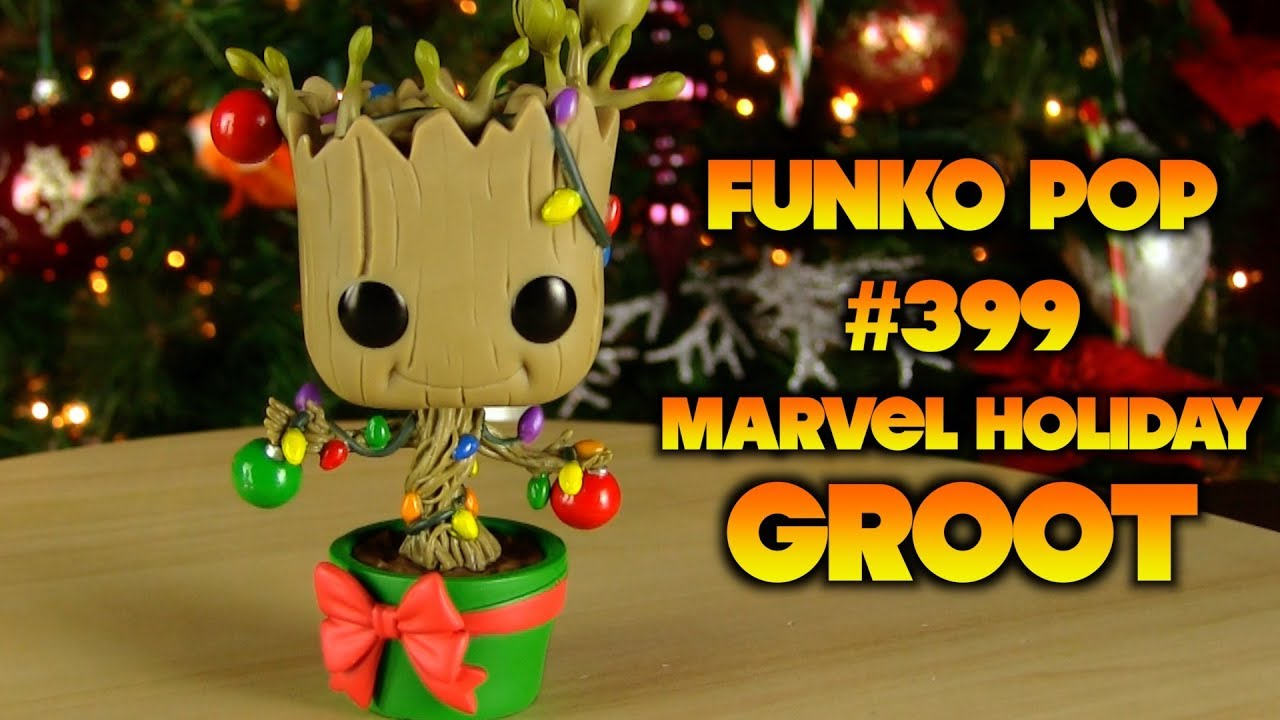 Christmas Groot Funko Pop.Christmas Collectibles Funko Pop 399 Marvel Holiday Groot