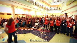 "Patient Writes ""Broncos Go!"" for Broncos 2015-2016 Season at Children"
