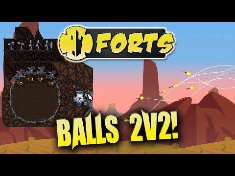 Forts Multiplayer 2v2 Gameplay New Balls 2v2 Map And Update 1.1