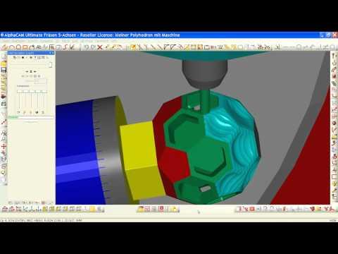 Licom AlphaCAM Pokal (CAD-CAM, Fräsen 3D, 3+2 mit 5-Achsen)