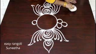 Simple daily beautiful kolam    easy rangoli muggulu    latest designs