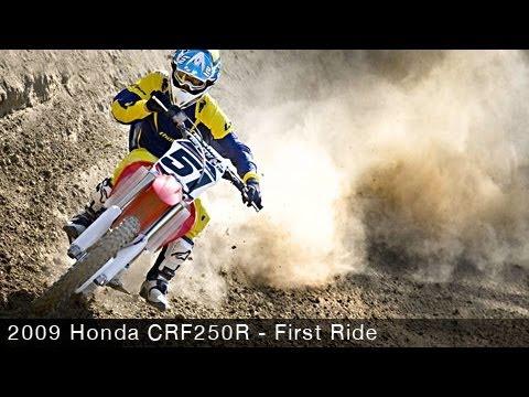2009 Honda CRF250R - Motocross Bike First Ride