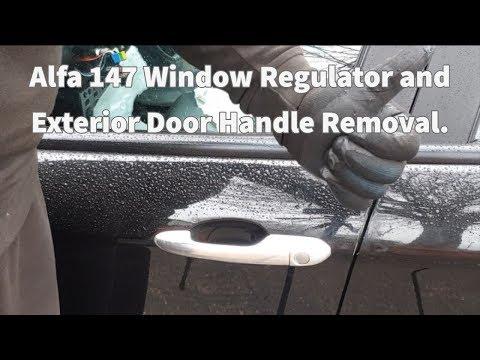 Tutorial For Removing Alfa 147 Door Handle/window Regulator.