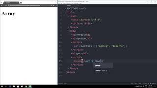 WEB2 JavaScript - 20.배열