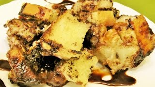 How To Make Eggless Chocolate Bread Pudding - Microwave Recipe