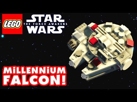 LEGO Star Wars The Force Awakens - Gameplay Part 13 - Millennium Falcon 100%!