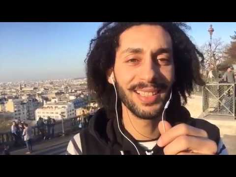 Hamada Chroukate 2 مغربي في باريس يغني في الشارع