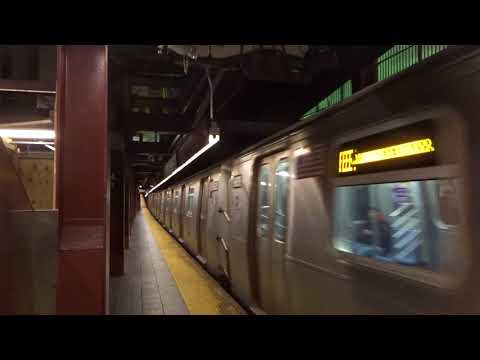 NYC Subway Special: Jamaica Center-bound R160 (E) Leaving 34th Street-Herald Square (B4 Track)
